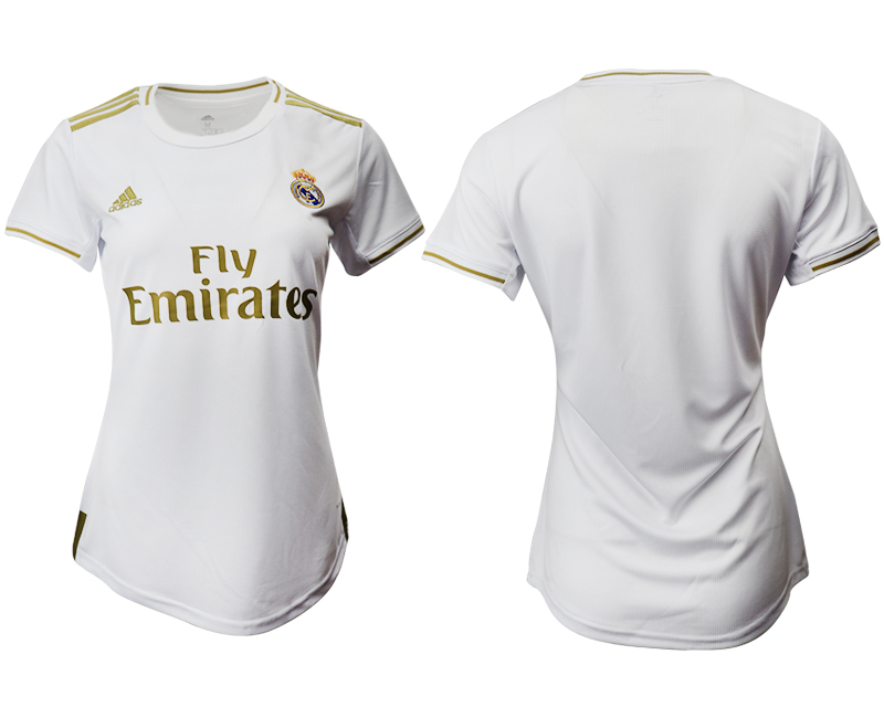 2019-20 Real Madrid Home Women Soccer Jersey