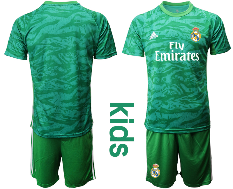 2019-20 Real Madrid Green Youth Goalkeeper Soccer Jersey