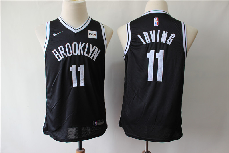Nets 11 Kyrie Irving Black Youth Nike Swingman Jersey