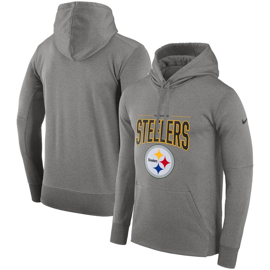 Pittsburgh Steelers Nike Sideline Property of Performance Pullover Hoodie Gray