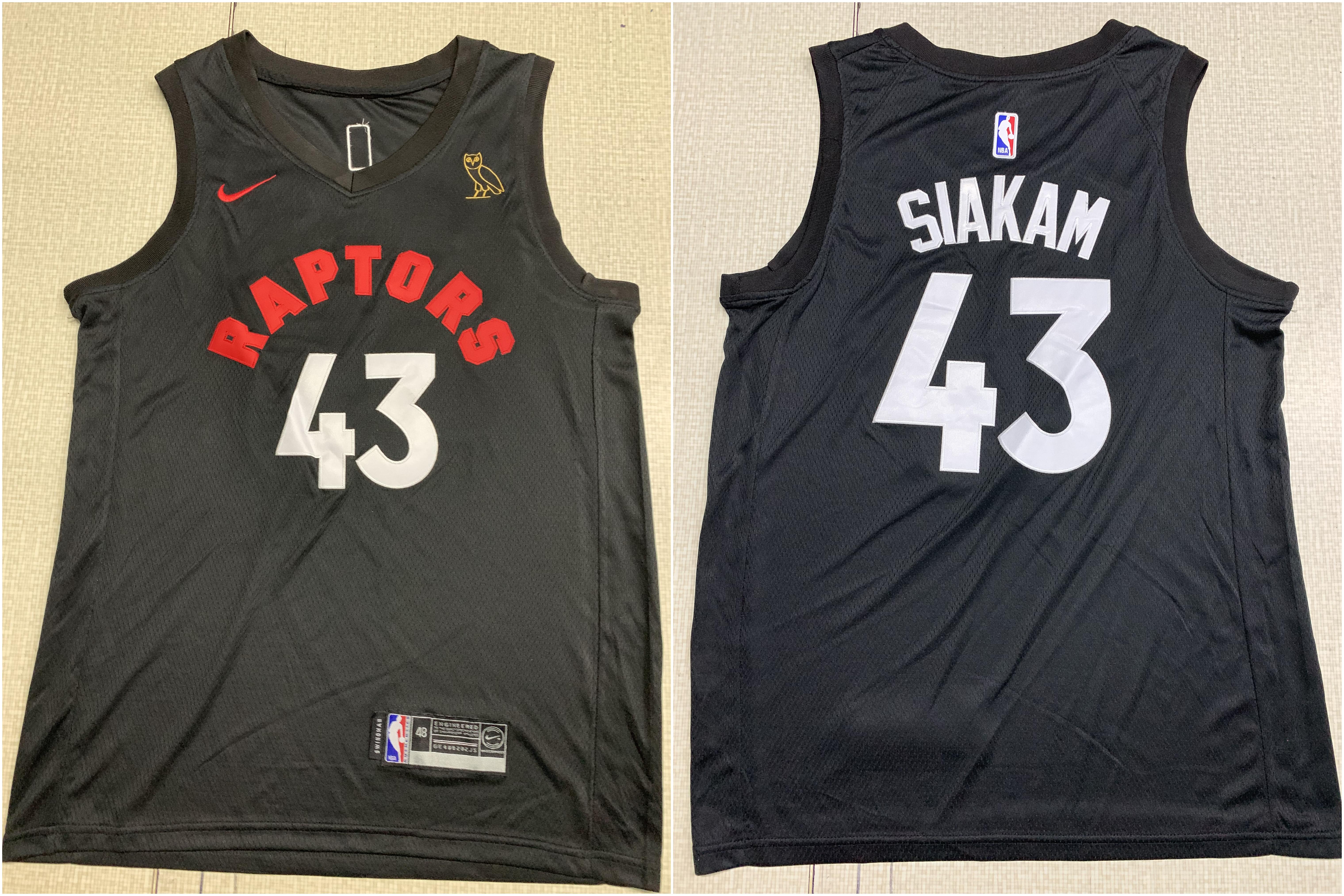Raptors 43 Pascal Siakam Black XOvo Nike Swingman Jersey