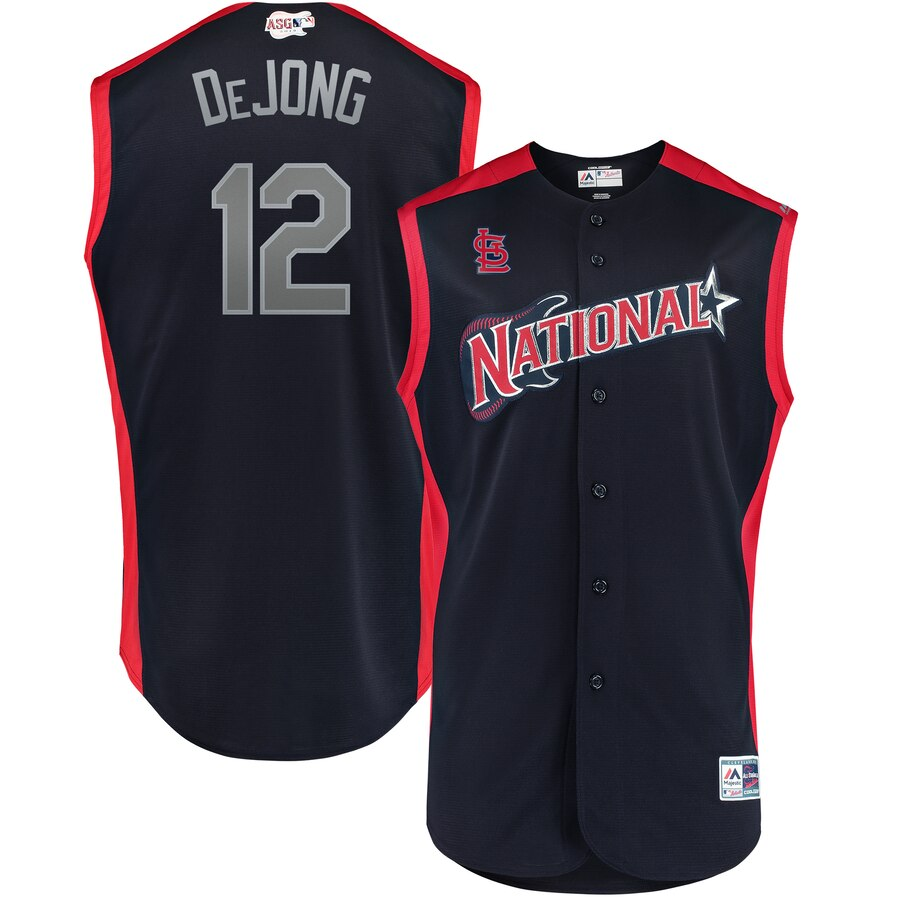 National League 12 Paul DeJong Navy 2019 MLB All-Star Game Workout Player Jersey