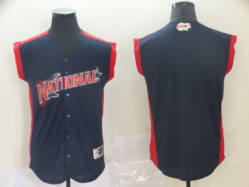 National League Navy 2019 MLB All-Star Workout Team Jersey