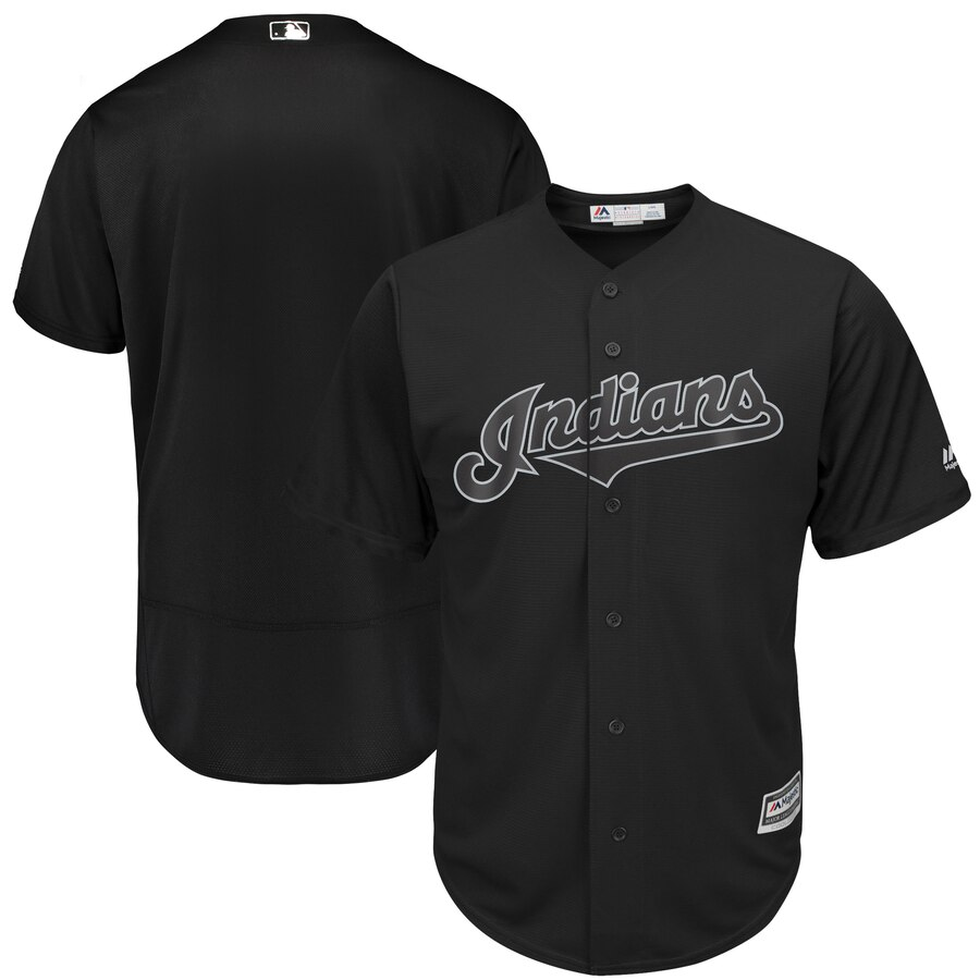 Indians Blank Black 2019 Players' Weekend Authentic Player Jersey