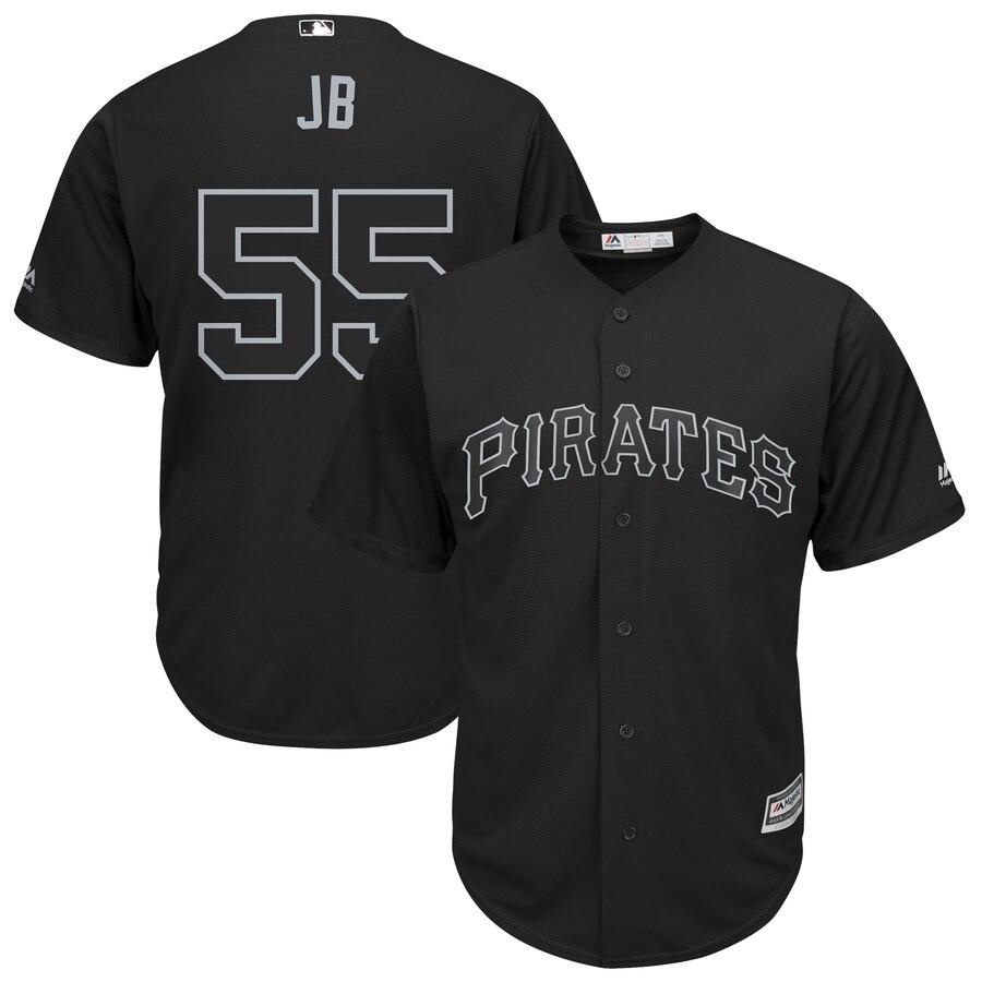 "Pirates 55 Josh Bell ""JB"" Black 2019 Players' Weekend Player Jersey"