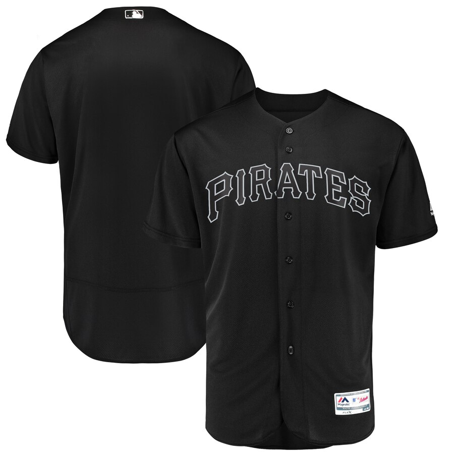 Pirates Blank Black 2019 Players' Weekend Authentic Player Jersey