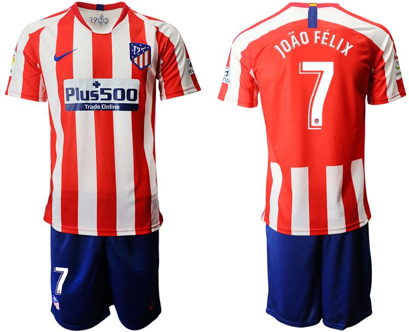 2019-20 Atletico Madrid 7 JOAO FELIX Home Soccer Jersey