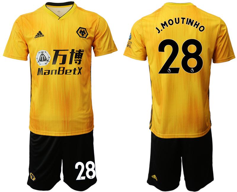 2019-20 Wolverhampton Wanderers 28 J.MOUTINH O Home Soccer Jersey