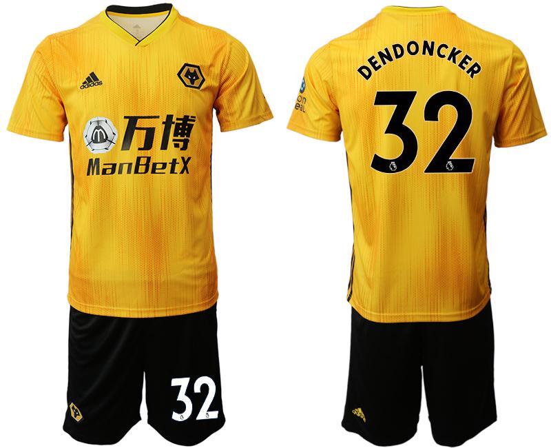 2019-20 Wolverhampton Wanderers 32 DENDONCKER Home Soccer Jersey