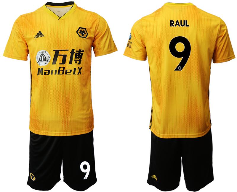 2019-20 Wolverhampton Wanderers 9 RAUL Home Soccer Jersey