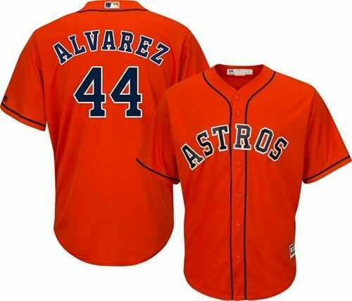 Astros 44 Yordan Alvarez Orange Cool Base Jersey