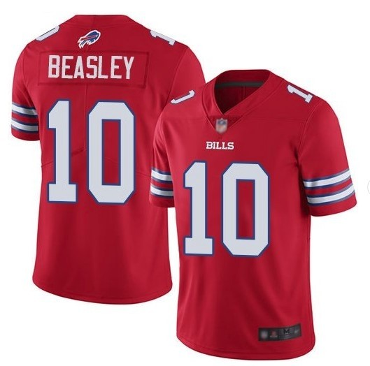 Nike Bills 10 Cole Beasley Red Color Rush Limited Jersey