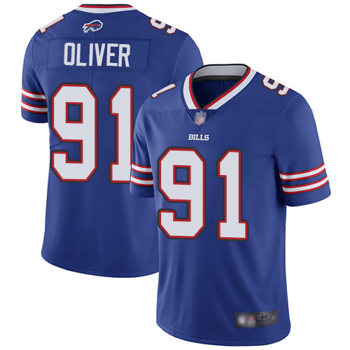 Nike Bills 91 Ed Oliver Royal 2019 NFL Draft First Round Pick Vapor Untouchable Limited Jersey