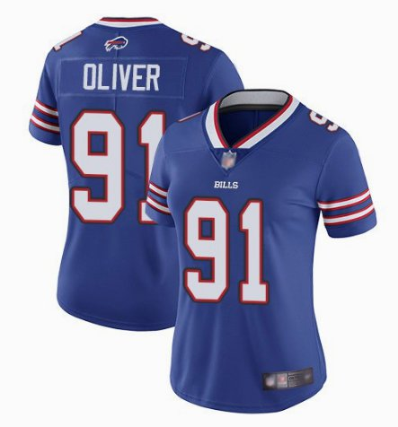Nike Bills 91 Ed Oliver Royal Women Vapor Untouchable Limited Jersey