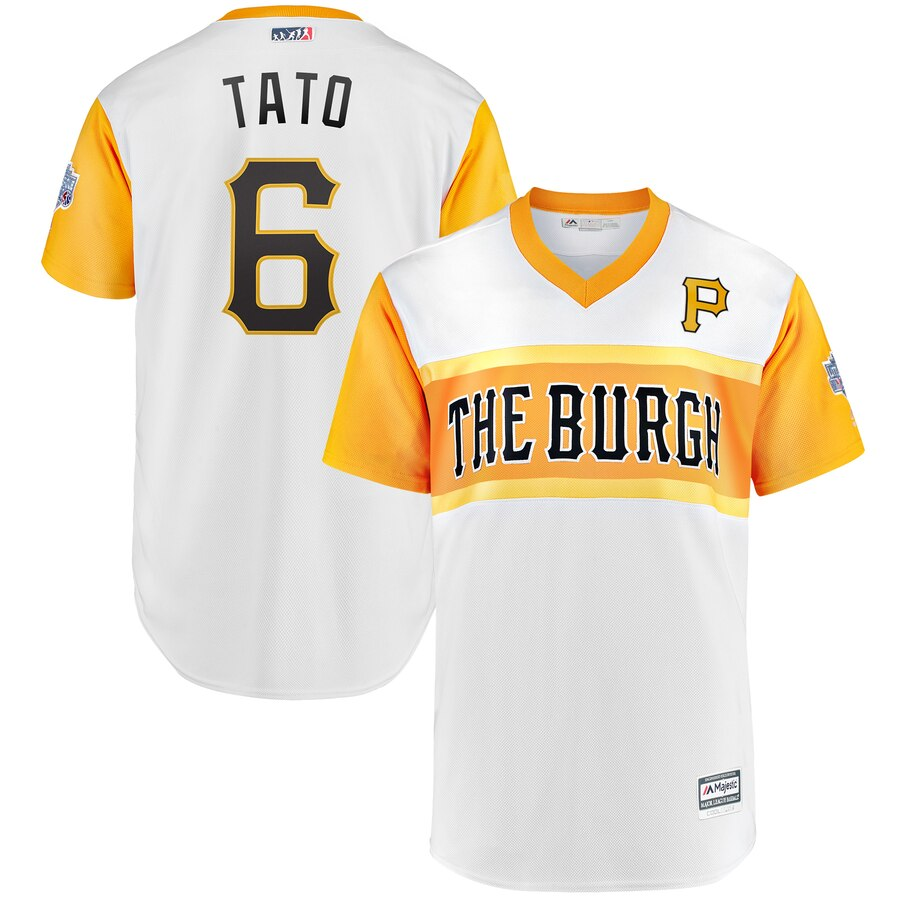 Pirates 6 Starling Marte Tato White 2019 MLB Little League Classic Player Jersey
