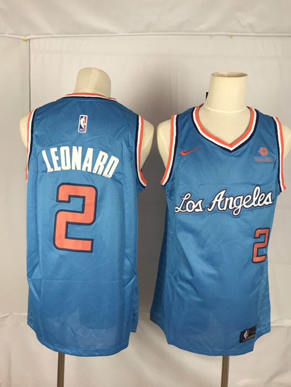 Clippers 2 Kawhi Leonard Blue Nike Throwback Swingman Jersey