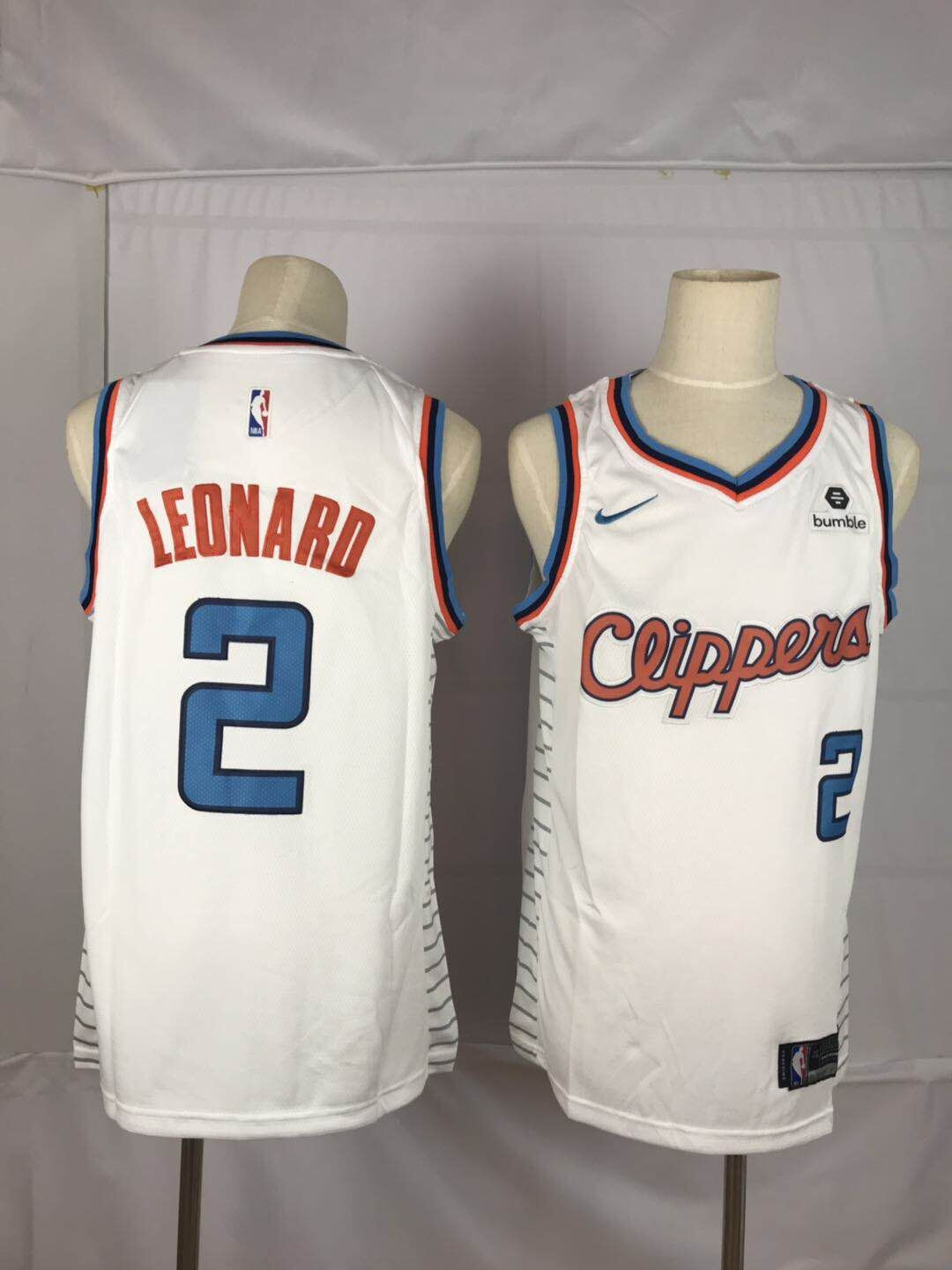 Clippers 2 Kawhi Leonard White Nike Throwback Swingman Jersey