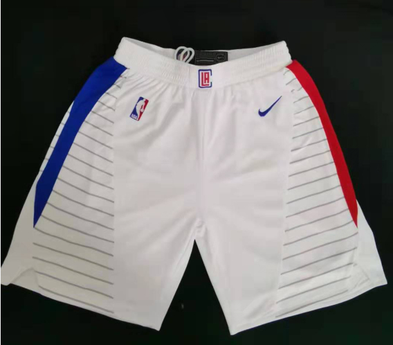 Clippers White Swingman Shorts