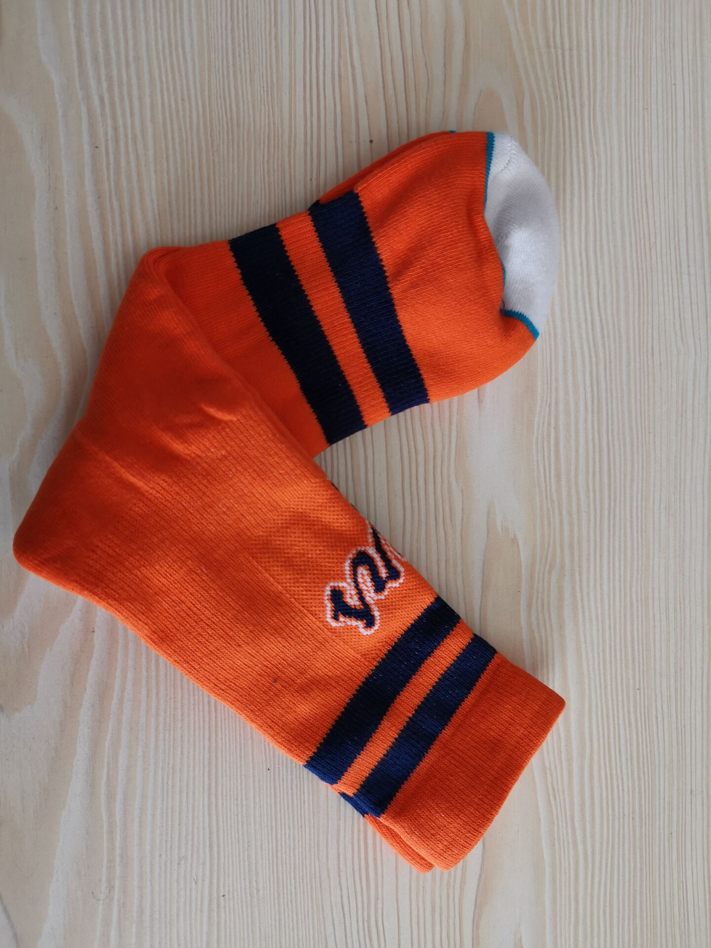 Atlanta Braves Team Logo Orange MLB Socks