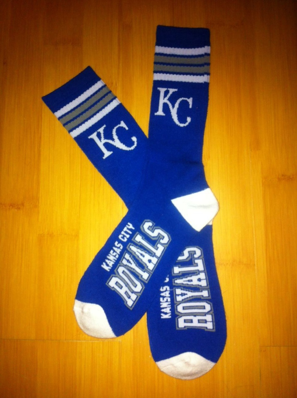Kansas City Royals Team Logo Blue MLB Socks