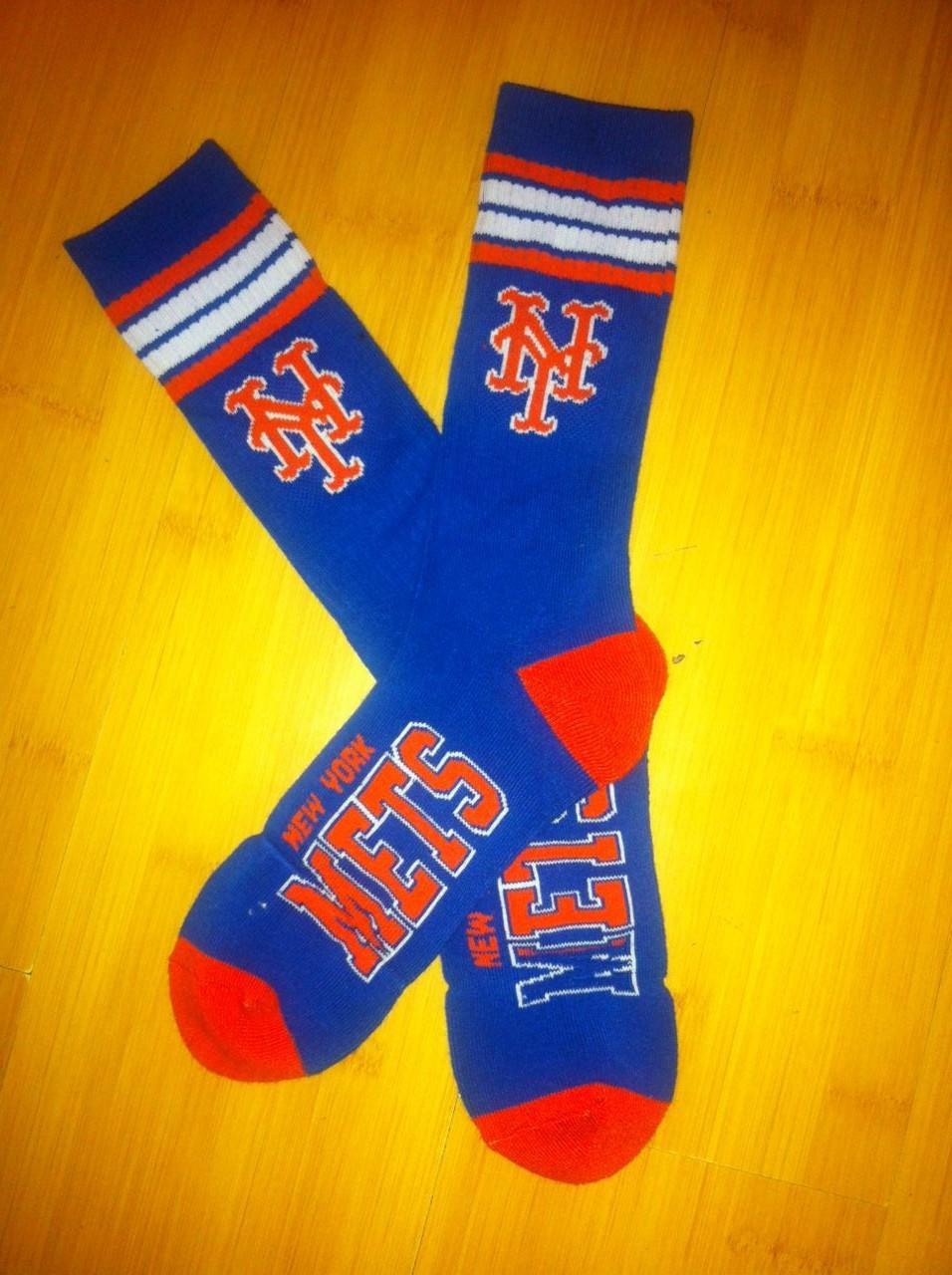 New York Mets Team Logo Blue MLB Socks