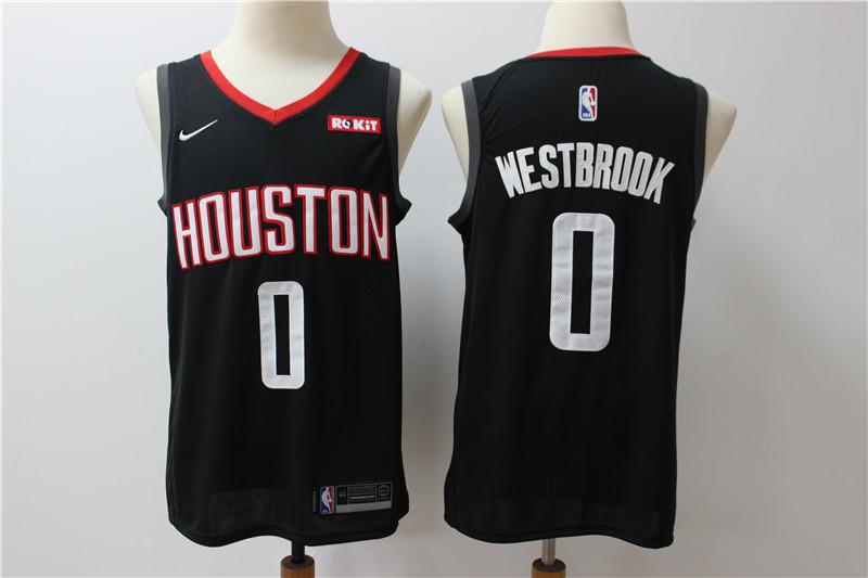 Rockets 0 Russell Westbrook Black Nike Swingman Jersey