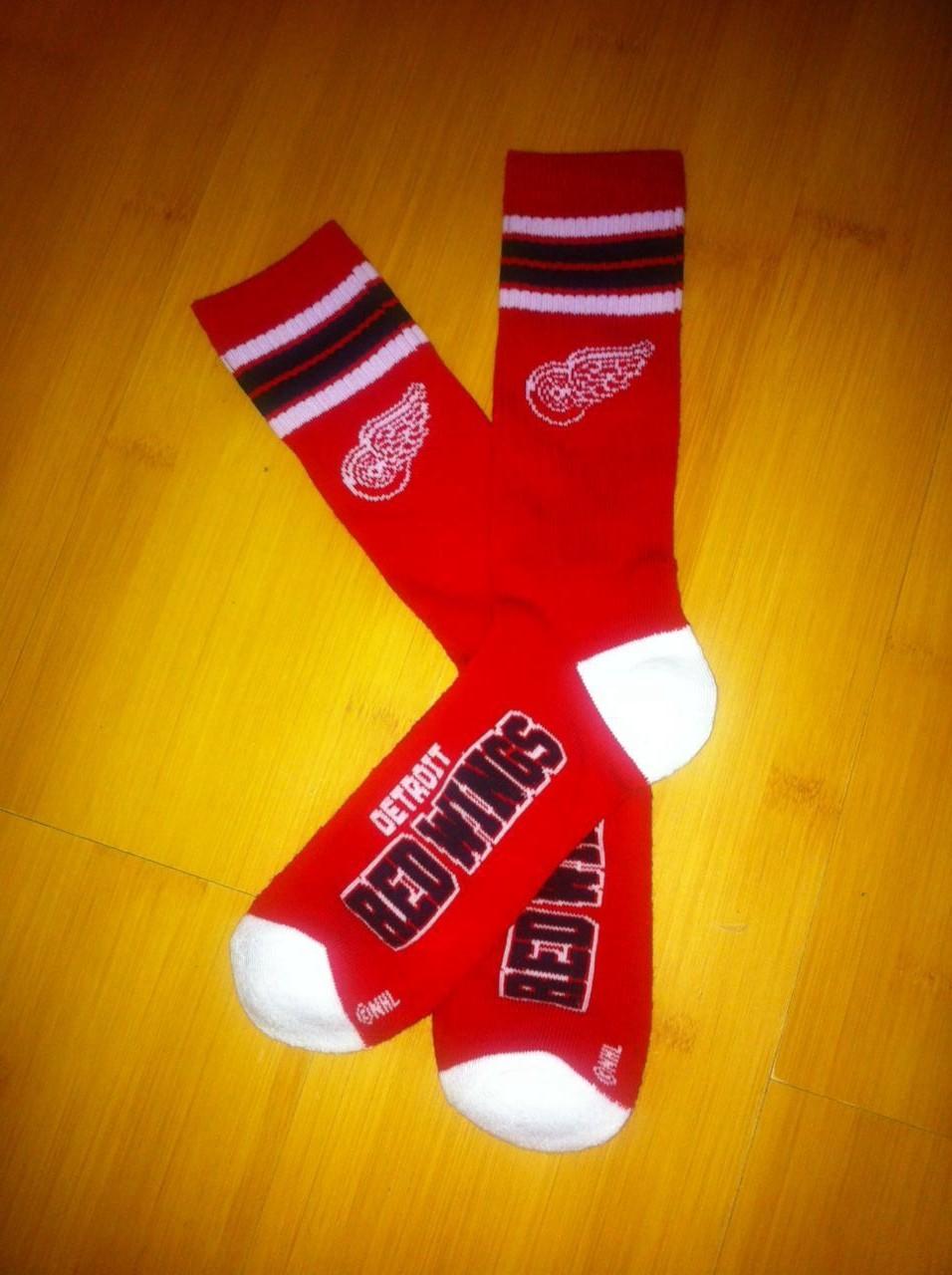 Detroit Red Wings Team Logo Red NHL Socks