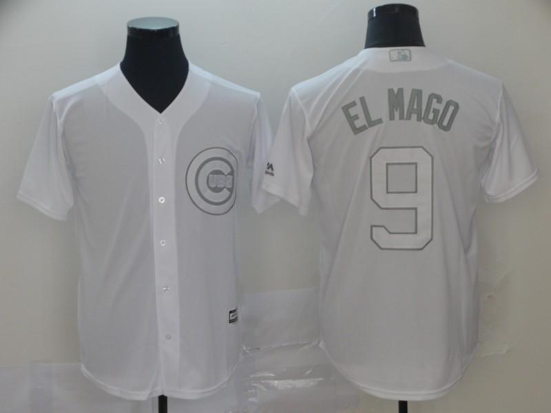 "Cubs 9 Javier Baez ""El Mago"" White 2019 Players' Weekend Player Jersey"
