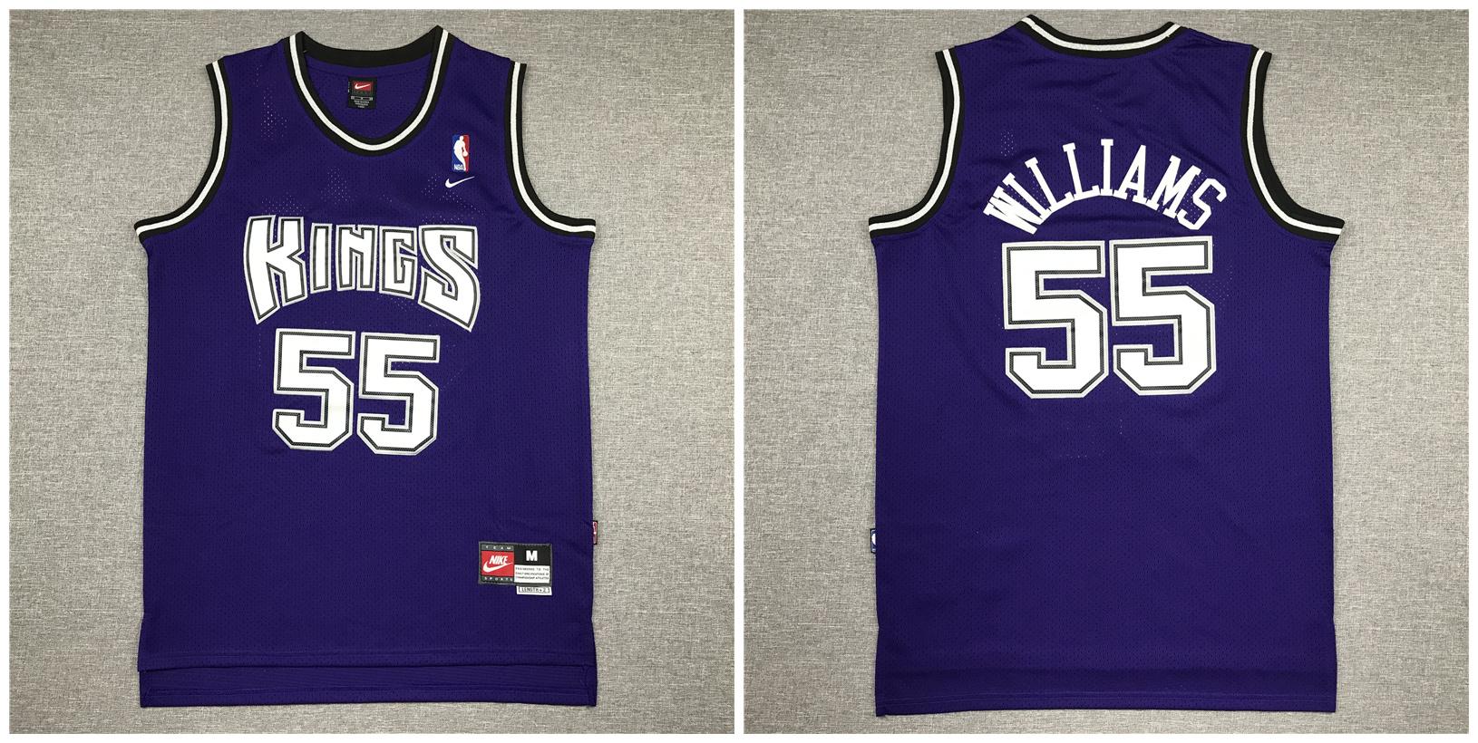 Kings 55 Jason Williams Purple Nike Swingman Jersey