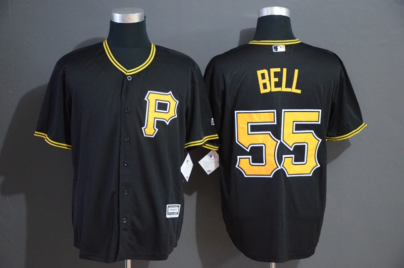Pirates 55 Josh Bell Black Cool Base Jersey
