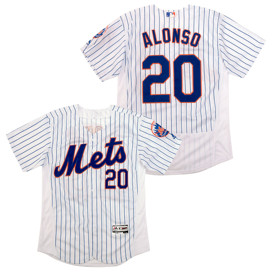 Mets 20 Pete Alonso White Flexbase Jersey