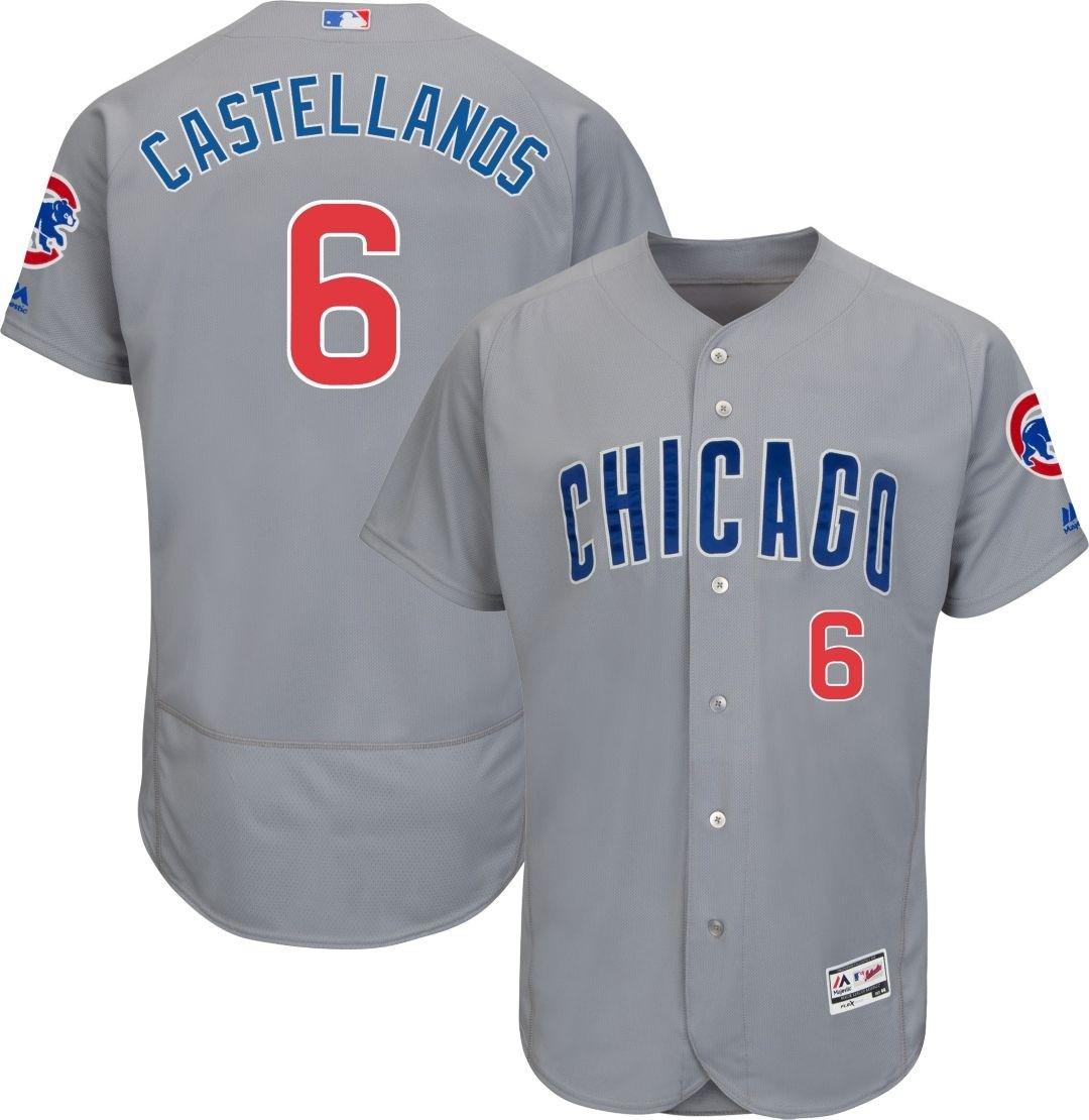 Cubs 6 Nick Castellanos Gray Flexbase Jersey
