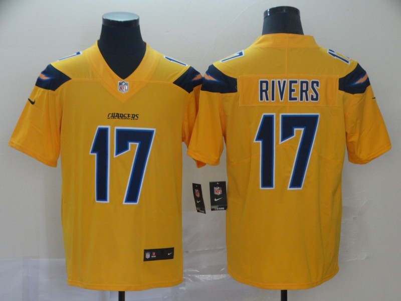 Nike Chargers 17 Philip Rivers Gold Inverted Legend Limited Jersey