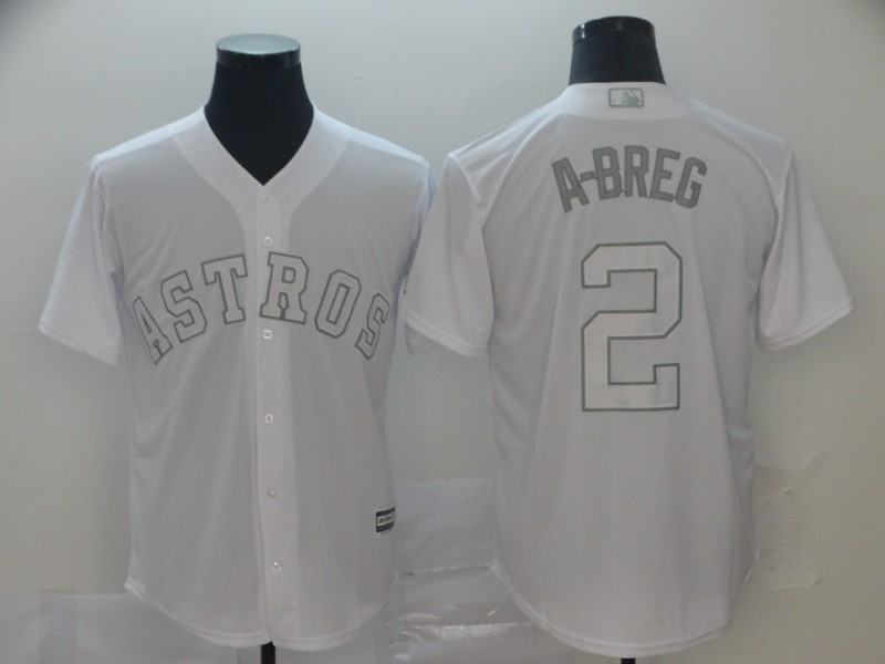 "Astros 2 Alex Bregman ""A-Breg"" White 2019 Players' Weekend Player Jersey"