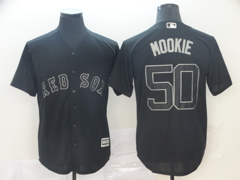 "Red Sox 50 Mookie Betts ""Mookie"" Black 2019 Players' Weekend Player Jersey"