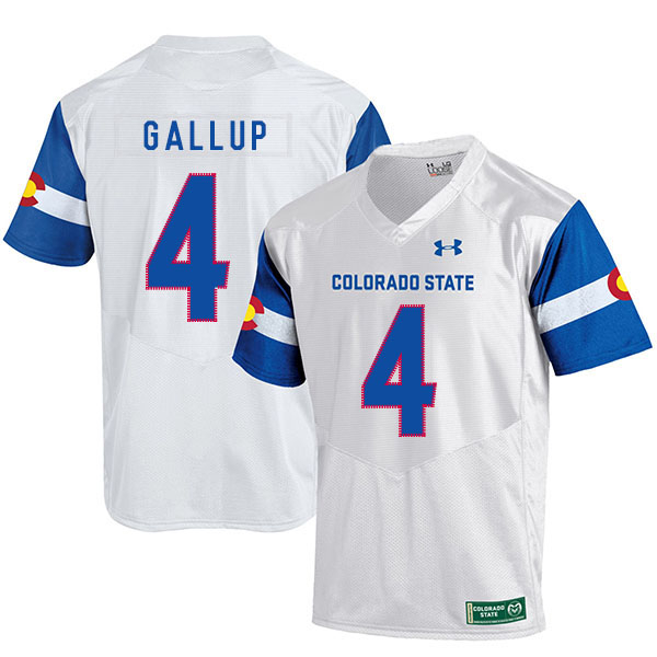 Colorado State Rams 4 Michael Gallup White College Football Jersey