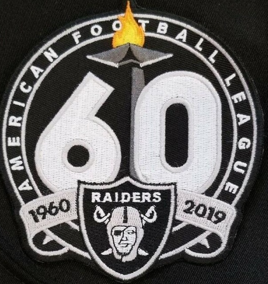 Oakland Raiders 1960-2019 60th Anniversary NFL Football Jersey Patch