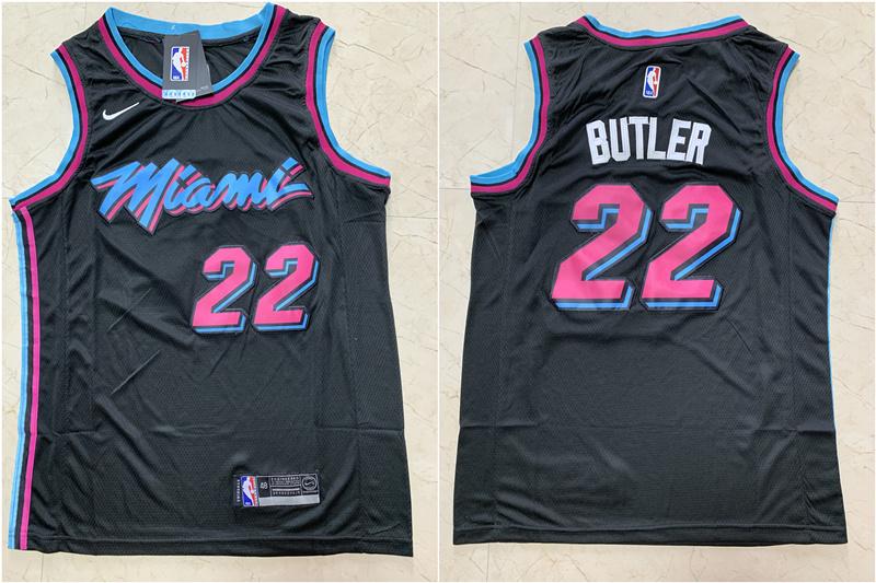 Heat 22 Jimmy Butler Black City Edition Nike Swingman Jersey