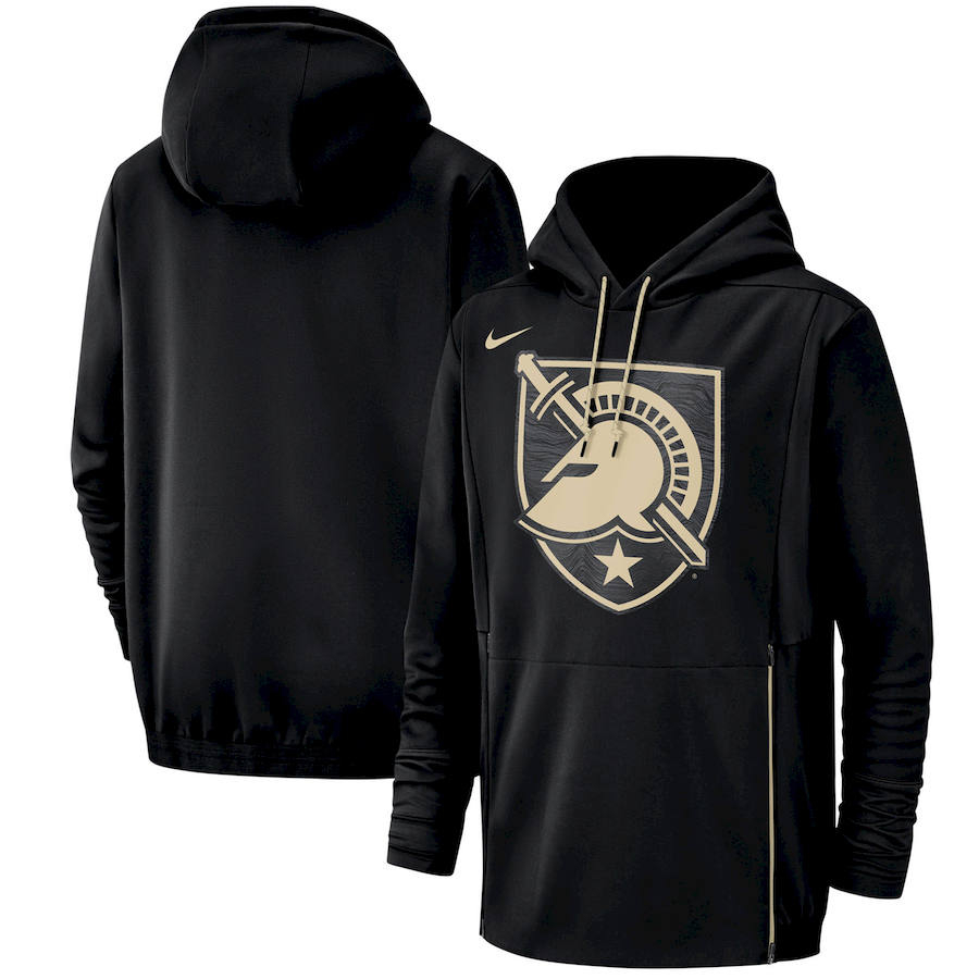 Army Black Knights Nike Champ Drive Performance Pullover Hoodie Black