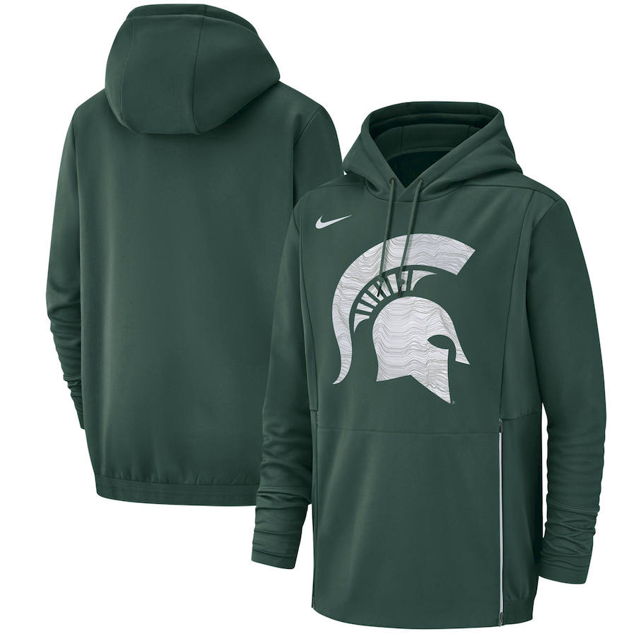 Michigan State Spartans Nike Champ Drive Performance Pullover Hoodie Green