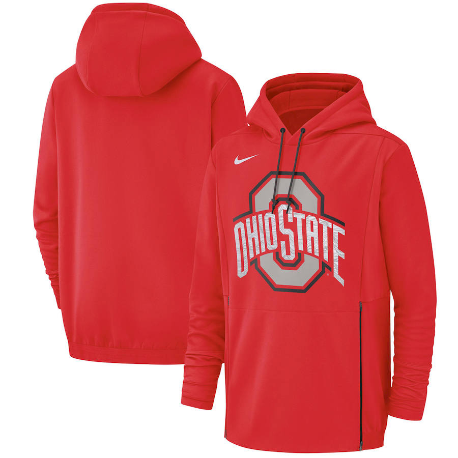 Ohio State Buckeyes Nike Champ Drive Performance Pullover Hoodie Scarlet