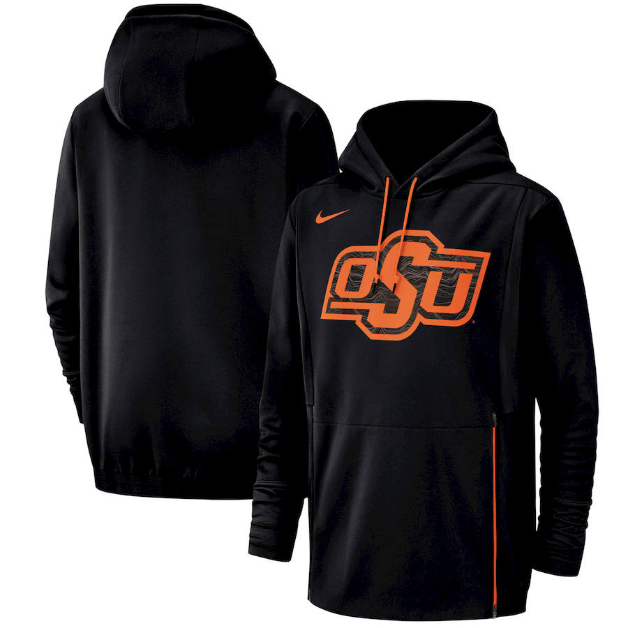 Oklahoma State Cowboys Nike Champ Drive Performance Pullover Hoodie Black
