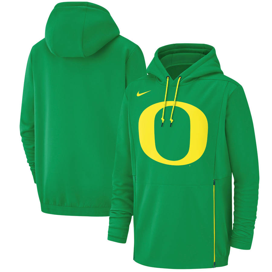 Oregon Ducks Nike Champ Drive Performance Pullover Hoodie Green