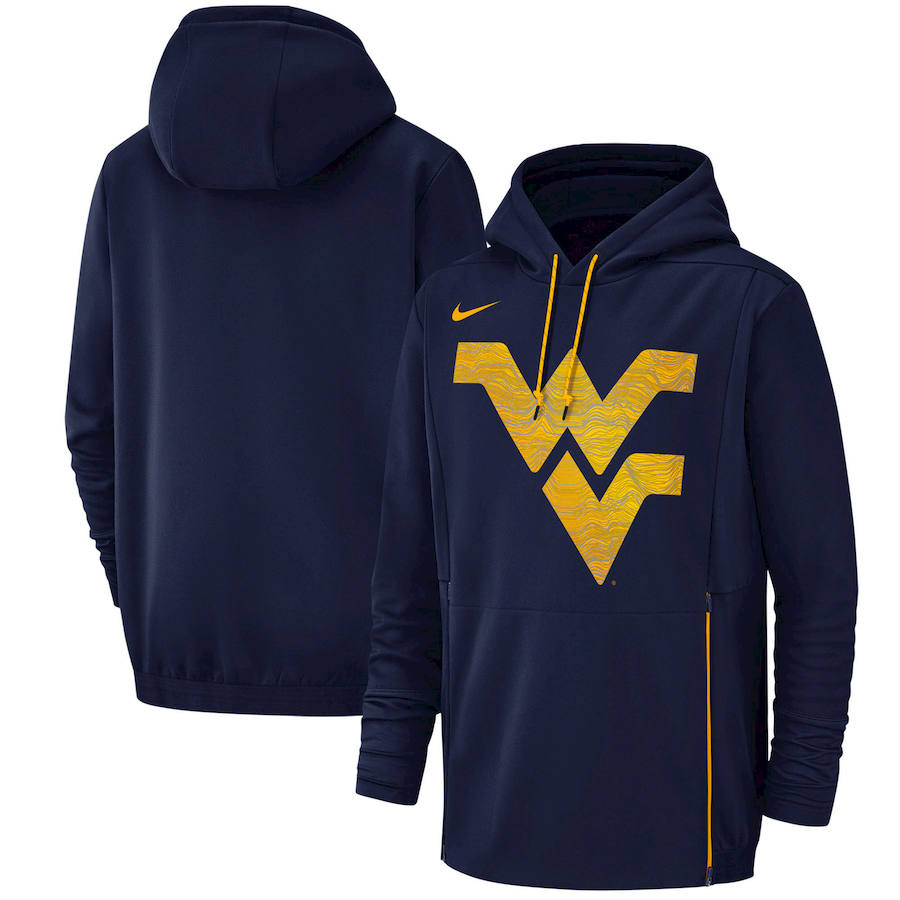 West Virginia Mountaineers Nike Champ Drive Performance Pullover Hoodie Navy
