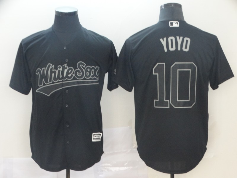 "White Sox 10 Yoan Moncada ""Yoyo"" Black 2019 Players' Weekend Player Jersey"
