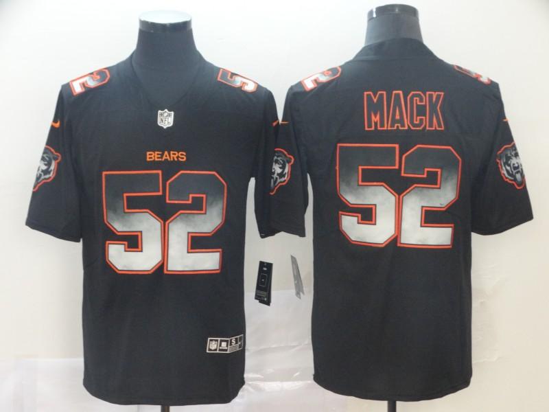 Nike Bears 52 Khalil Mack Black Arch Smoke Vapor Untouchable Limited Jersey