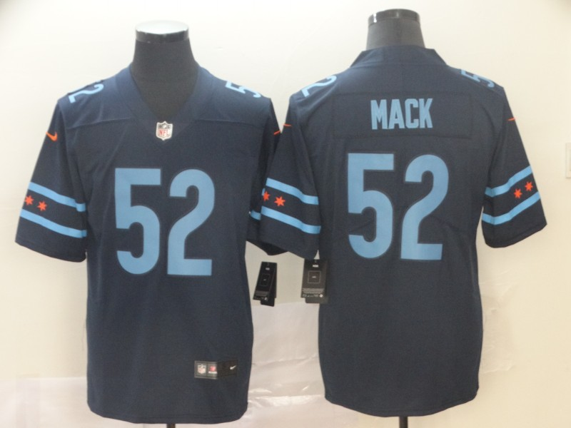 Nike Bears 52 Khalil Mack Black City Edition Vapor Untouchable Limited Jersey