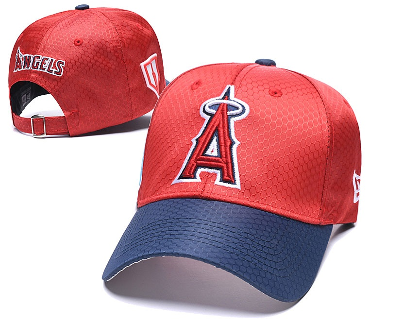 Angels Team Logo Red Navy 2019 Spring Training Peaked Adjustable Hat YD