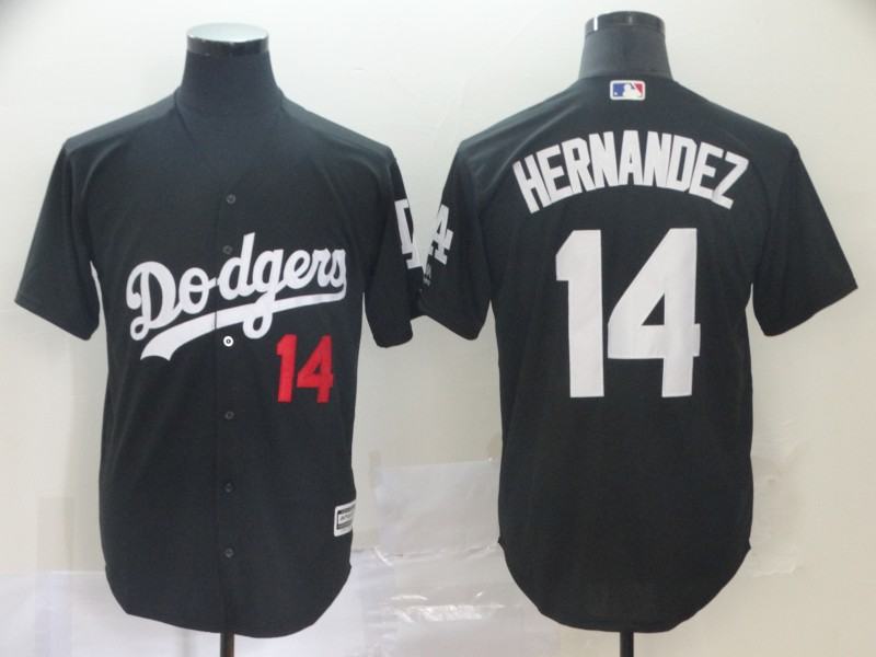 Dodgers 14 Enrique Hernandez Black Turn Back The Clock Cool Base Jersey