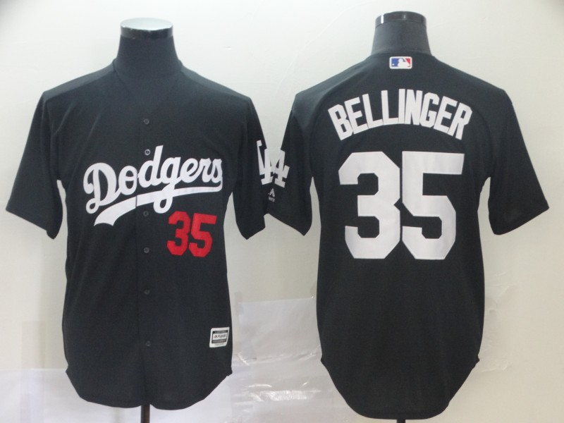 Dodgers 35 Cody Bellinger Black Turn Back The Clock Cool Base Jersey